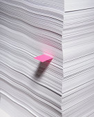 Marked sheet of paper