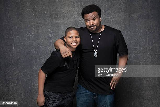 Markees Christmas and Craig Robinson of 'Morris From America' pose for a portrait at the 2016 Sundance Film Festival on January 23 2016 in Park City...