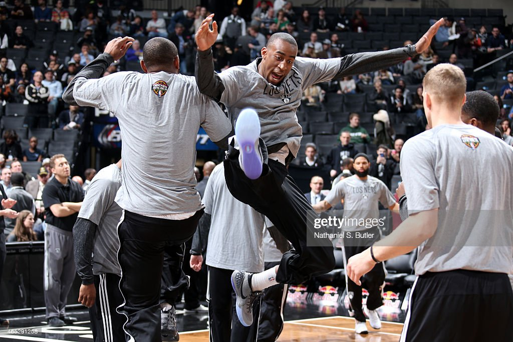 <a gi-track='captionPersonalityLinkClicked' href=/galleries/search?phrase=Markel+Brown&family=editorial&specificpeople=7542399 ng-click='$event.stopPropagation()'>Markel Brown</a> #22 of the Brooklyn Nets gets introduced before a game against the Charlotte Hornets on March 4, 2015 at the Barclays Center in the Brooklyn borough of New York City.