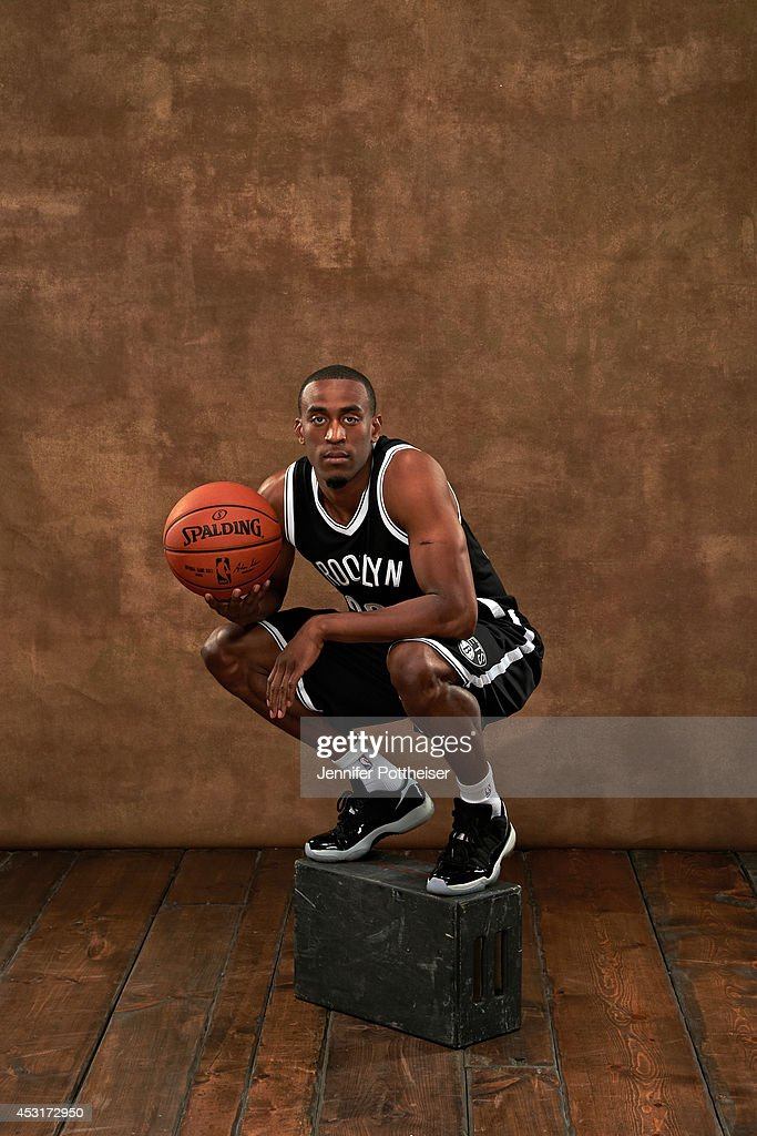 <a gi-track='captionPersonalityLinkClicked' href=/galleries/search?phrase=Markel+Brown&family=editorial&specificpeople=7542399 ng-click='$event.stopPropagation()'>Markel Brown</a> #22 of the Brooklyn Nets poses for a portrait during the 2014 NBA rookie photo shoot on August 3, 2014 at the Madison Square Garden Training Facility in Tarrytown, New York.