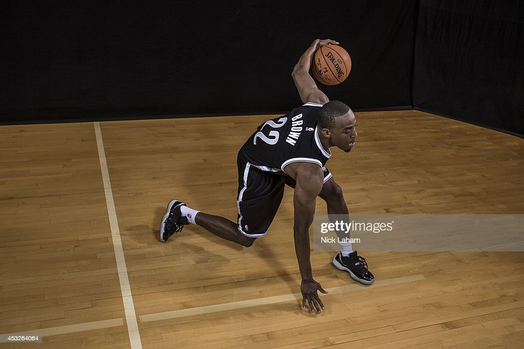 <a gi-track='captionPersonalityLinkClicked' href=/galleries/search?phrase=Markel+Brown&family=editorial&specificpeople=7542399 ng-click='$event.stopPropagation()'>Markel Brown</a> #22 of the Brooklyn Nets poses for a portrait during the 2014 NBA rookie photo shoot at MSG Training Center on August 3, 2014 in Tarrytown, New York.