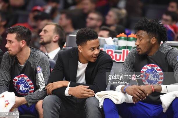 Markelle Fultz of the Philadelphia 76ers during the game against the LA Clippers on November 13 2017 at STAPLES Center in Los Angeles California NOTE...