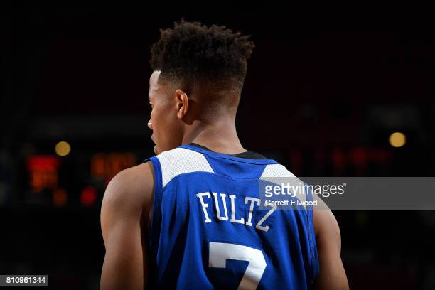 Markelle Fultz of the Philadelphia 76ers looks on during the game against the Golden State Warriors during the 2017 Las Vegas Summer League on July 8...