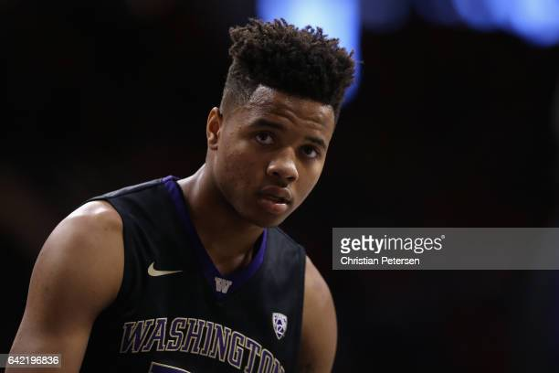 Markelle Fultz of the Washington Huskies during the college basketball game against the Arizona Wildcats at McKale Center on January 29 2017 in...