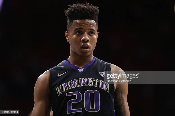 Markelle Fultz of the Washington Huskies during the second half of the college basketball game against the Arizona Wildcats at McKale Center on...