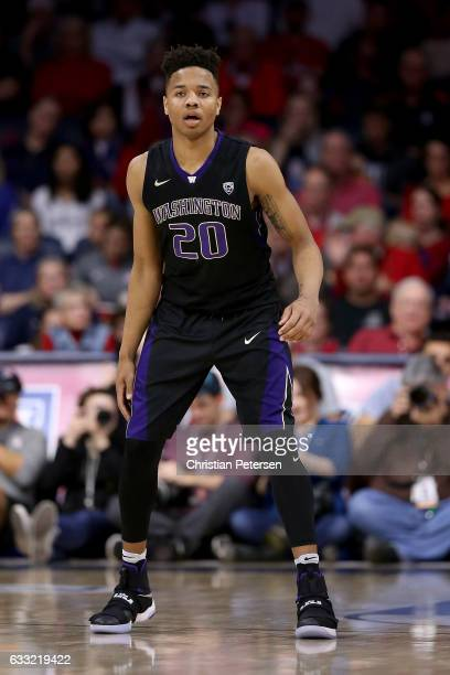 Markelle Fultz of the Washington Huskies in action during the second half of the college basketball game against the Arizona Wildcats at McKale...