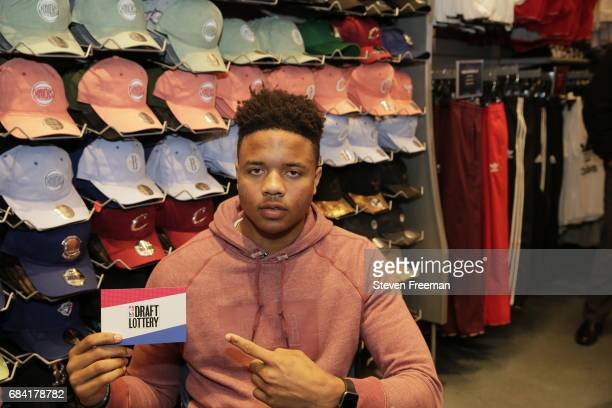 Markelle Fultz signs autographs at Champs Sports prior to the draft lottery on May 15 2017 in New York New York NOTE TO USER User expressly...