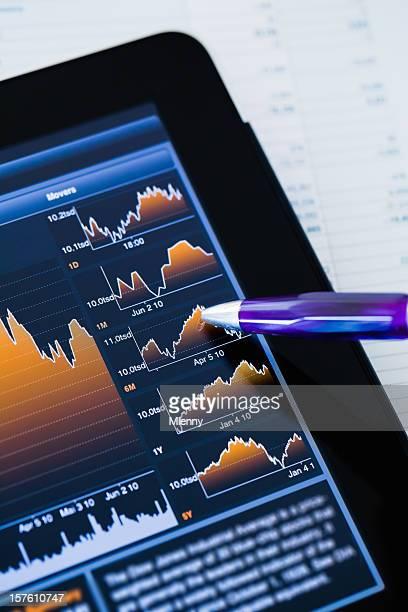 Market analysieren Finanzen-Tabelle
