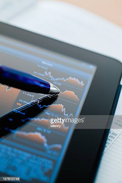 Market Analyze Financial Stock Chart Tablet Computer