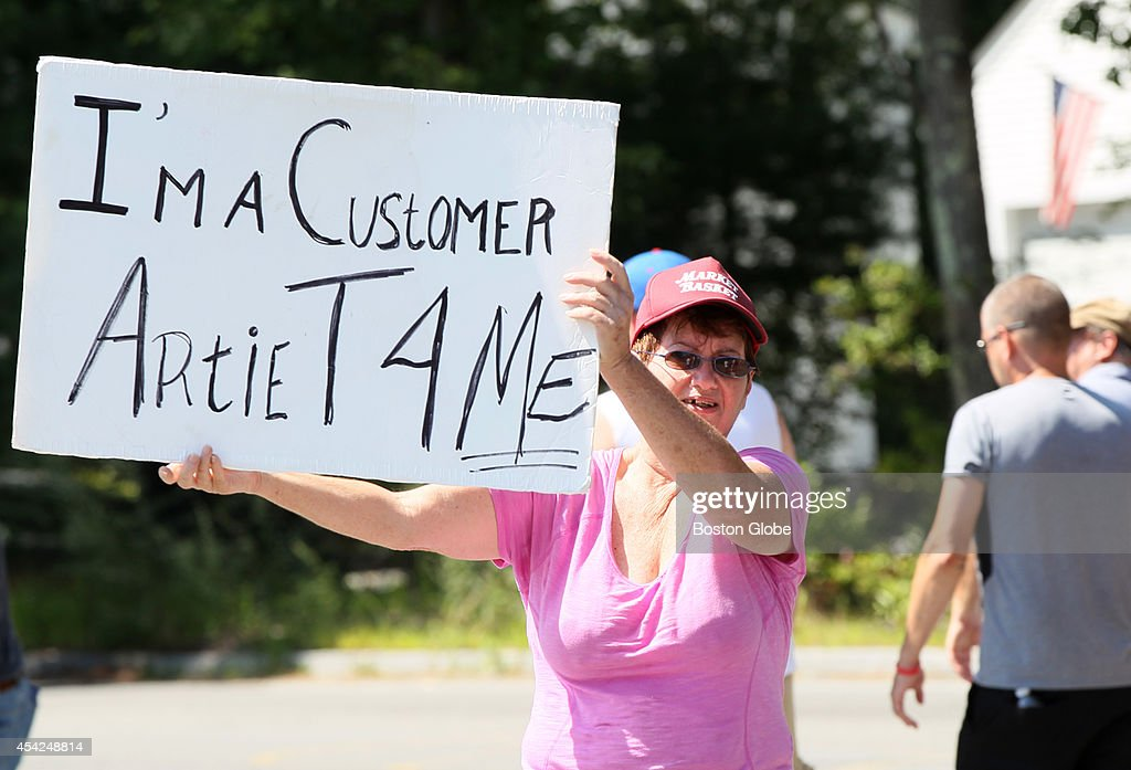 Market Basket customer Bobbe Anderson drove all the way from North Easton to join the protest, marching with employees outside Market Basket headquarters in Tewksbury.