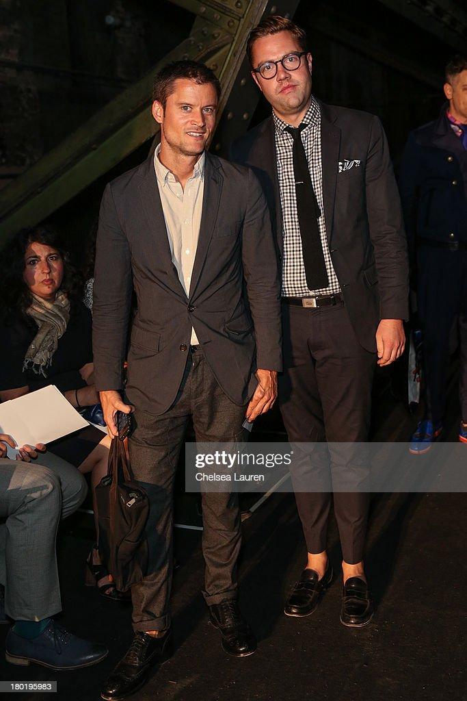 GQ market director Ted Stafford and GQ fashion editor Garrett Munce attend the Marlon Gobel fashion show during MercedesBenz Fashion Week Spring 2014...