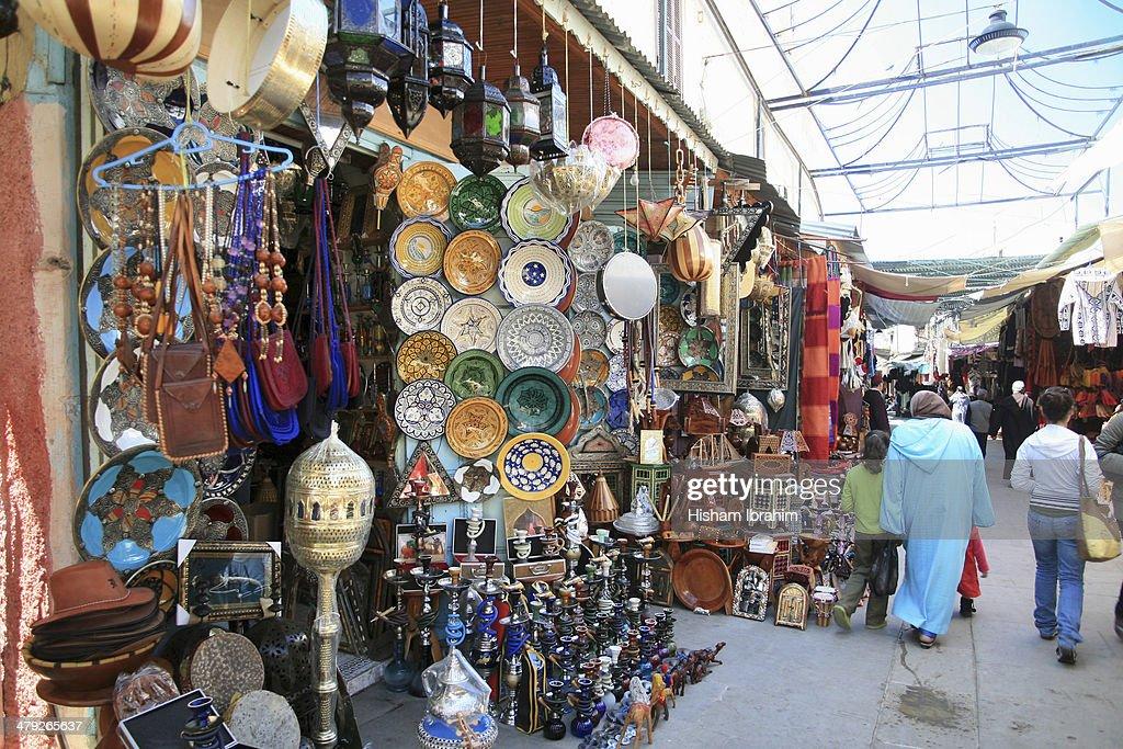 Market in Medina - Rabat, Morocco.
