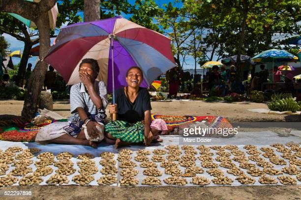 Market peanut seller