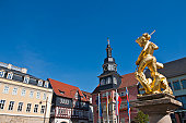 Market place in Eisenach, Thuringia, Germany