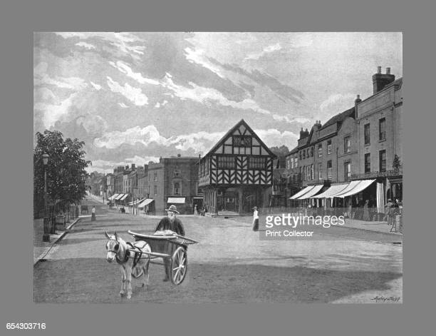 Market Place Ledbury c1900 Ledbury is a Herefordshire market town lying east of Hereford and west of the Malvern Hills It has a significant number of...