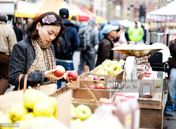 Market shopping, New York City