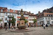 Market Square and Heidelberg Castle