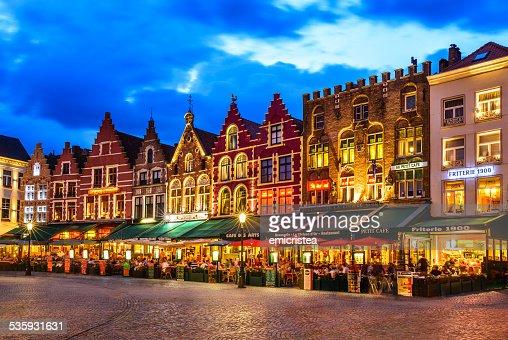 Market Square, Bruges : Stock Photo