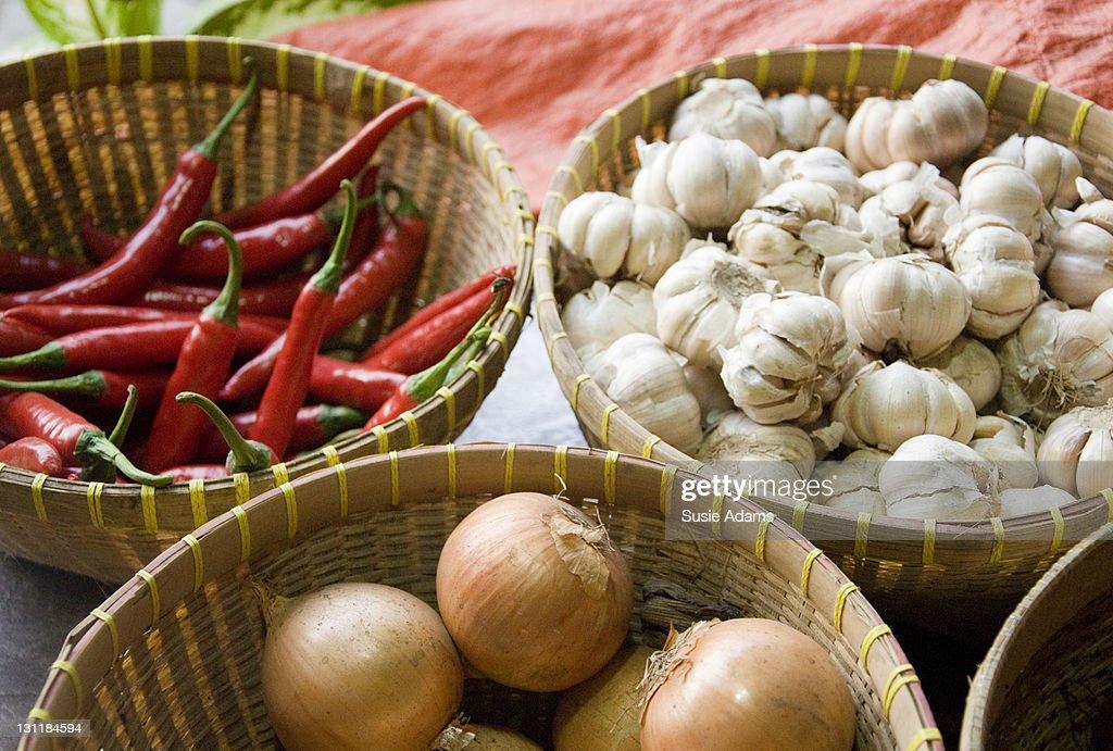 Market stall produce : Stock Photo