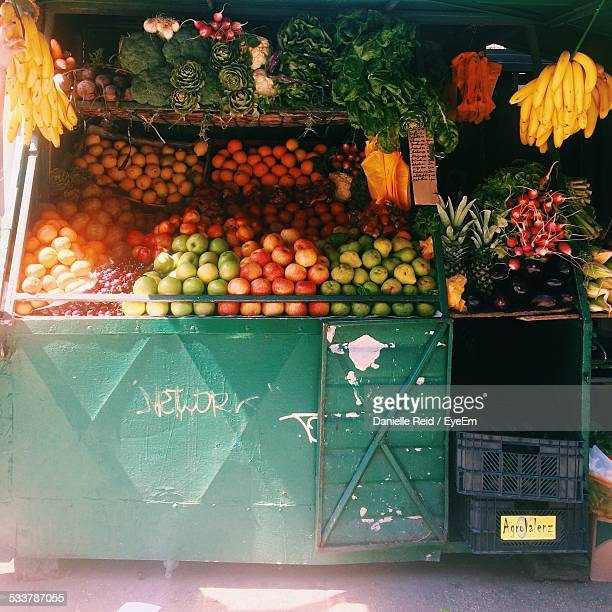 Market Stall With Fruit And Vegetable