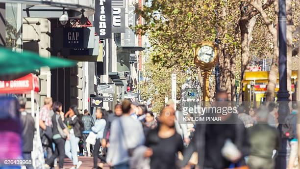 Market Street crowds San Francisco
