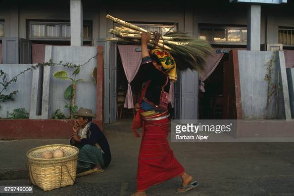 Market traders in Taunggyi Burma February 1988