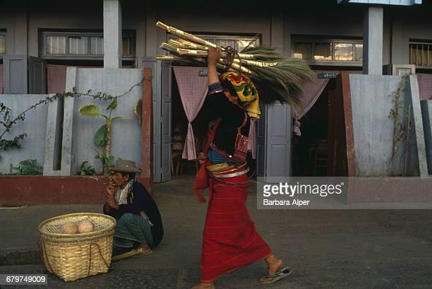 Market traders in Taunggyi Burma February 1988