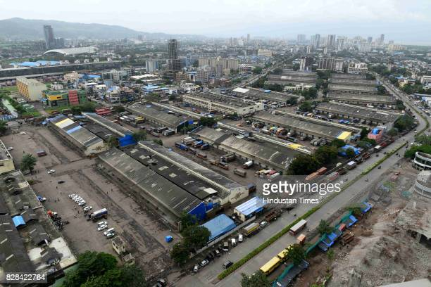 Market was closed due to Maratha Kranti Morcha at Turbhe on August 9 2017 in Navi Mumbai India The protest rally which saw participation from nearly...