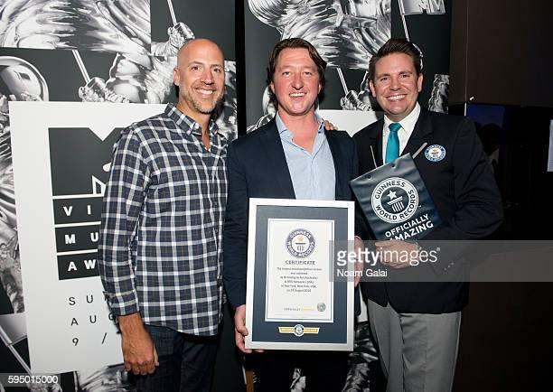 EVP Marketing and Branded Content Viacom Velocity Dario Spina CEO Branding By Air Simon Powell and Guinness World Records Adjudicator Michael Empric...