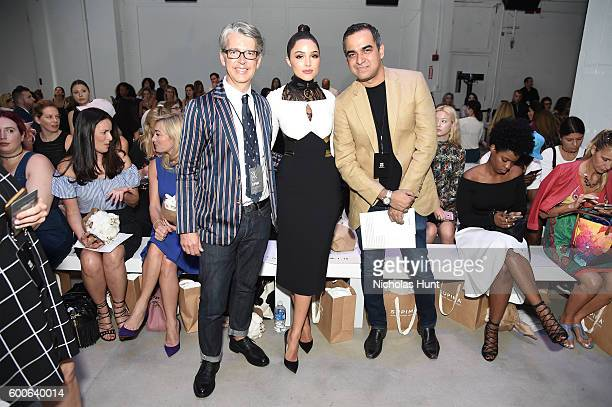 VP Marketing and Promotions at Supima Buxton S Midyette Olivia Culpo and Fashion Designer Bibhu Mohapatra attend the Supima Design Competition 2016...