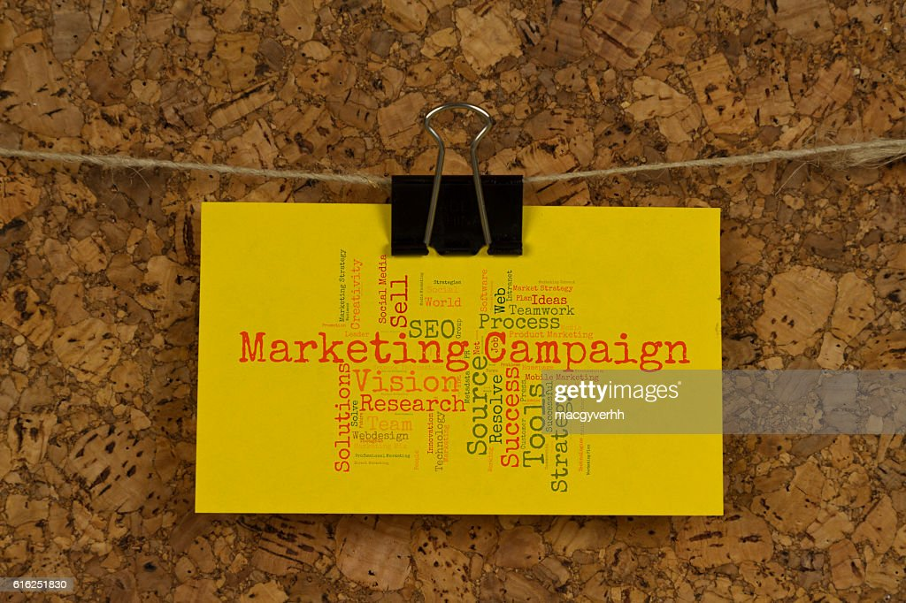 Marketing campaign word cloud : Stock Photo