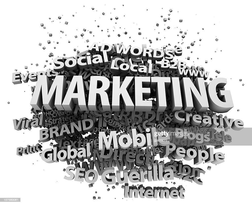 Marketing concept : Stock Photo