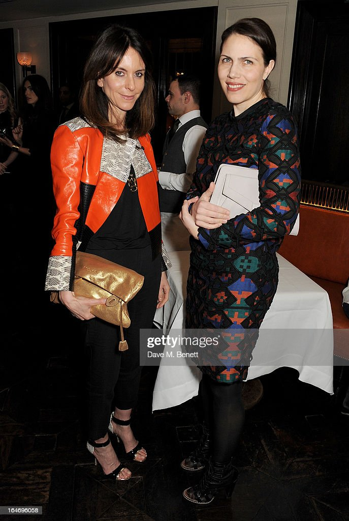 Marketing Director Alison Loehnis (L) and Elyse Nemerever attend a dinner hosted by online luxury fashion retailer NET-A-PORTER to celebrate designers Jack McCollough and Lazaro Hernandez of Proenza Schouler, and launch their exclusive capsule collection to the site, at 34 Restaurant on March 26, 2013 in London, England.