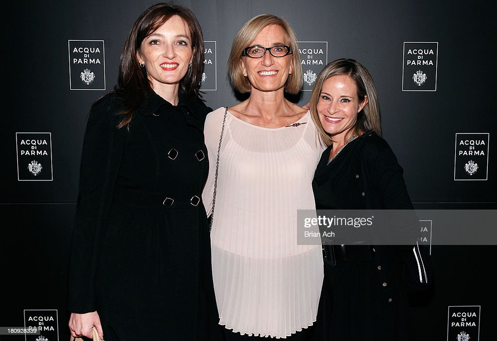 Marketing director at Acqua di Parma Bettina Bamberger, Head of Communications at Acqua di Parma Debora Rigato and Cara Raffe attend Acqua di Parma gala event: Roberto Bolle and Friends tribute to La nobilita' del Fare Giovanni Gastel photo exhibition, as part of 2013 year of Italian Culture in The US on September 17, 2013 in New York City.