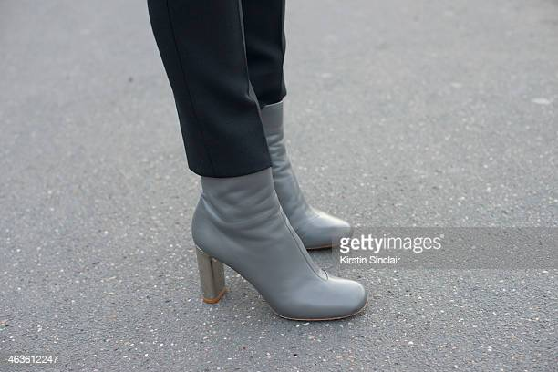 Marketing Director for Dior Homme Leather Saara Valjakka wears Jil Sander boots and Acne trousers day 4 of Paris Mens Fashion Week Autumn/Winter 2014...