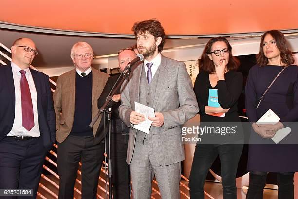 BMW marketing Director Pierre Jalady Philippe Carmouze Baptiste Liger Prix du Style creator Antoine Bueno Sophie Obadia and Viktor Lazlo attend 'Le...