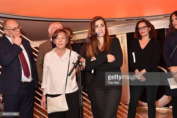 BMW marketing Director Pierre Jalady Philippe Carmouze Baptiste Liger publisher Liana Levi Le Prix du Style 2016 awarded Iranian writer Negar Djavadi...