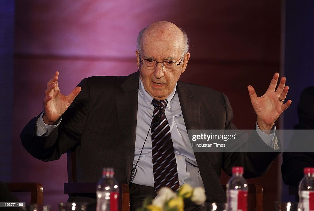 Marketing Guru Philip Kotler during the seminar at Leela Kempinski on March 14, 2013 in Gurgaon, India. He was speaking at the full day Certified Training Programme titled- Eight ways to grow your market share: The Future of Marketing organized by RelioQuick and JRE school of Management.