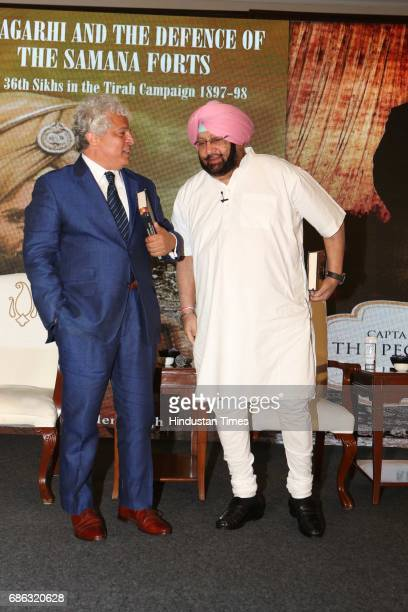 Marketing Guru Suhel Seth and Punjab Chief Minister Captain Amarinder Singh during the launch of a book titled 'Captain Amarinder Singh The People's...