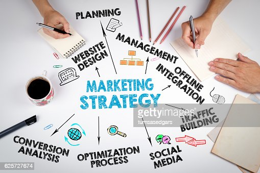 Marketing Strategy Business concept : Stock Photo