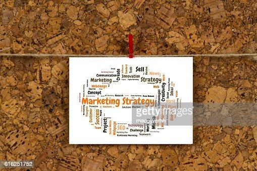 Nube de palabra estrategia de Marketing : Foto de stock