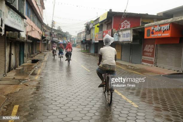 Markets closed in Baduria as police enforced Section 144 after communal violence during protests over an objectionable social media post on July 5...