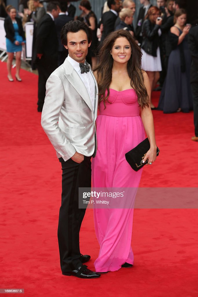 Mark-Francis Vandelli and Binky Felstead attend the Arqiva British Academy Television Awards 2013 at the Royal Festival Hall on May 12, 2013 in London, England.