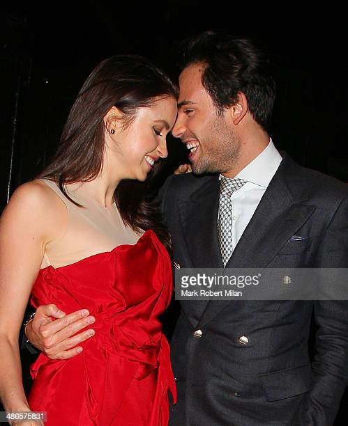 MarkFrancis Vandelli and Emma Miller at the Chiltern Firehouse on April 24 2014 in London England