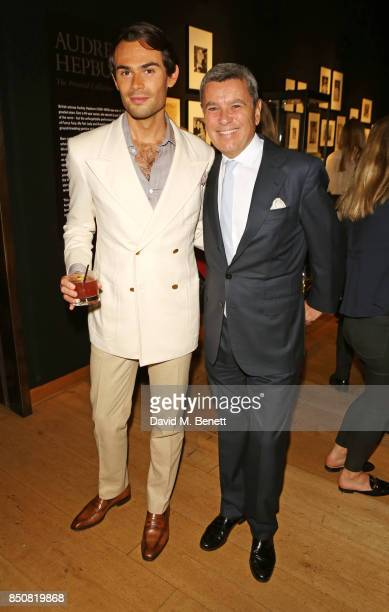 MarkFrancis Vandelli and Pedro Girao Chairman of the European Advisory Board Christie's attend the opening reception for 'Audrey Hepburn The Personal...
