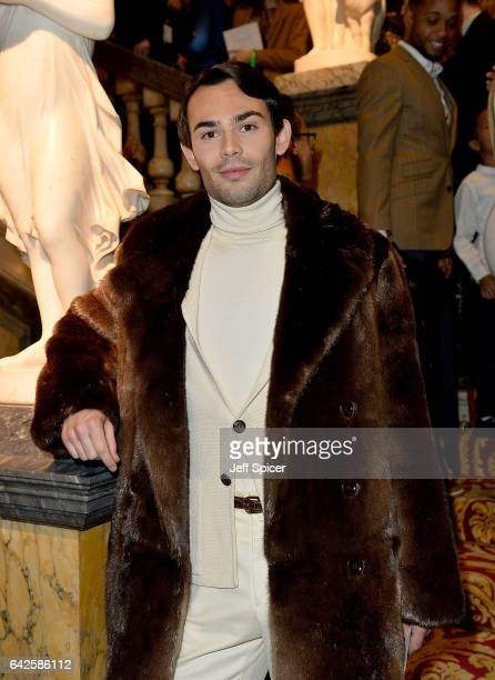 MarkFrancis Vandelli attends the Julien Macdonald show during the London Fashion Week February 2017 collections on February 18 2017 in London England