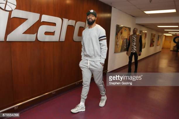 Markieff Morris of the Washington Wizards arrival on November 17 2017 at Capital One Arena in Washington DC NOTE TO USER User expressly acknowledges...