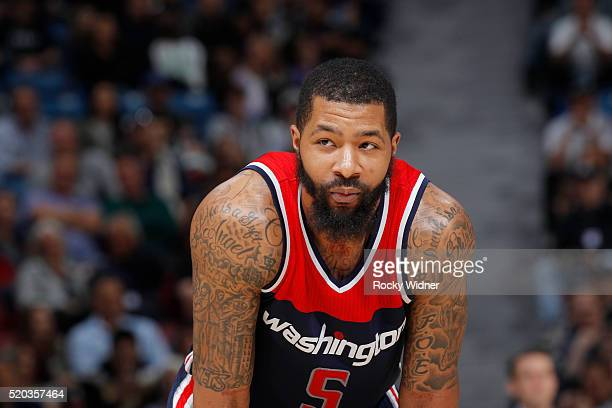 Markieff Morris of the Washington Wizards looks on during the game against the Sacramento Kings on March 30 2016 at Sleep Train Arena in Sacramento...