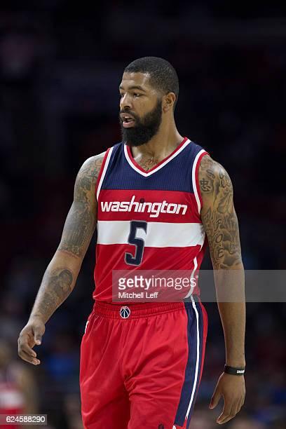 Markieff Morris of the Washington Wizards plays against the Philadelphia 76ers at Wells Fargo Center on November 16 2016 in Philadelphia Pennsylvania...