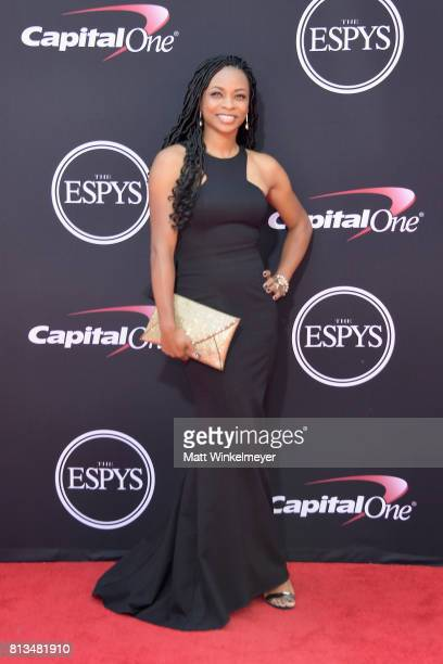 Markisha Thomas attends The 2017 ESPYS at Microsoft Theater on July 12 2017 in Los Angeles California